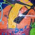 afmeting 80x60 het doek is gepannen op een stevig frame dik in de verf en de zijkanten zijn meegeschilderd dus dit werk kan zo aan de muur. gedateerd en gesigneerd. prijs op aanvraag