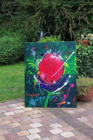 mij wifes favourite 100x80 zwaar doek, veel verf, een prachtig stuk. handgesigneerd en gedateerd. prijs op aanvraag  VERKOCHT
